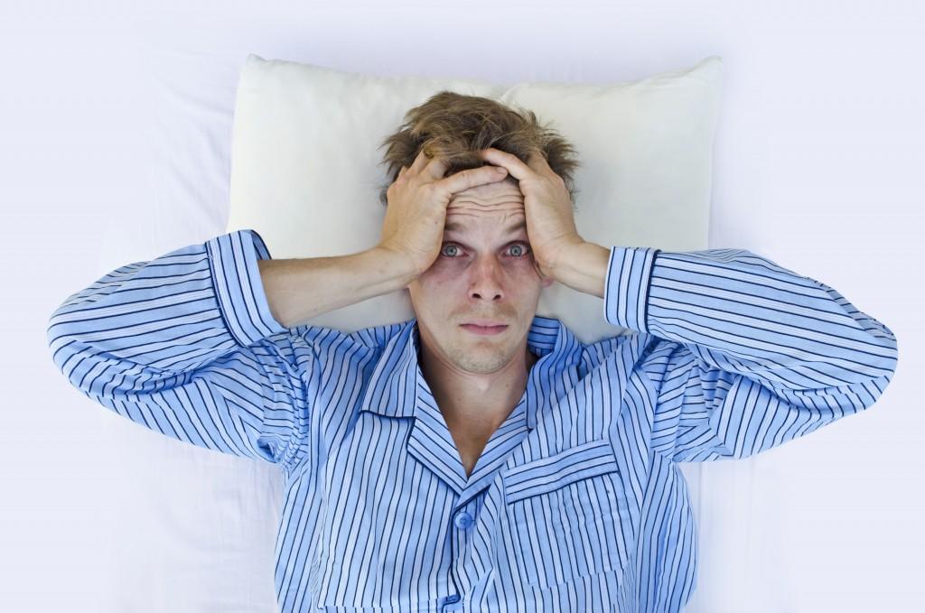Man finding it hard to sleep