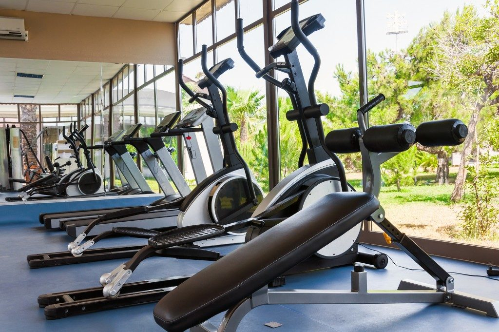Fitness Facilities with views of nature in the condo