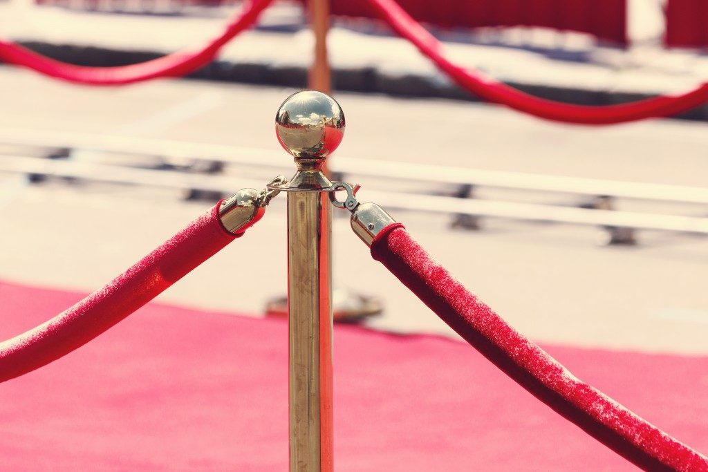 red rope use in an event